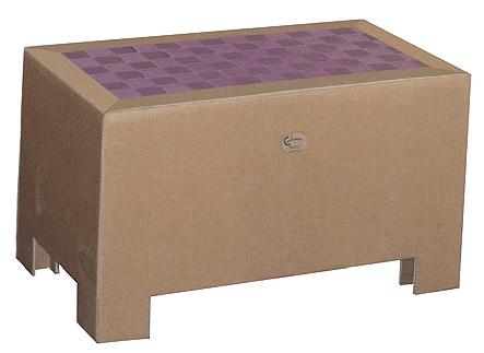 Cardboard-tavolino-panca-cartone