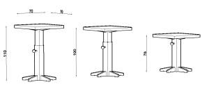 Tavolo telescopico dimensioni